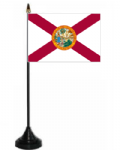 Florida Desk / Table Flag with plastic stand and base.